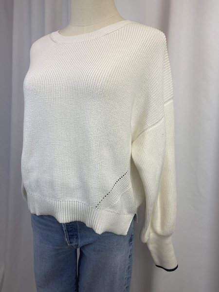 Pre-loved Elevin Six Pima Cotton Ribbed Sweater - white