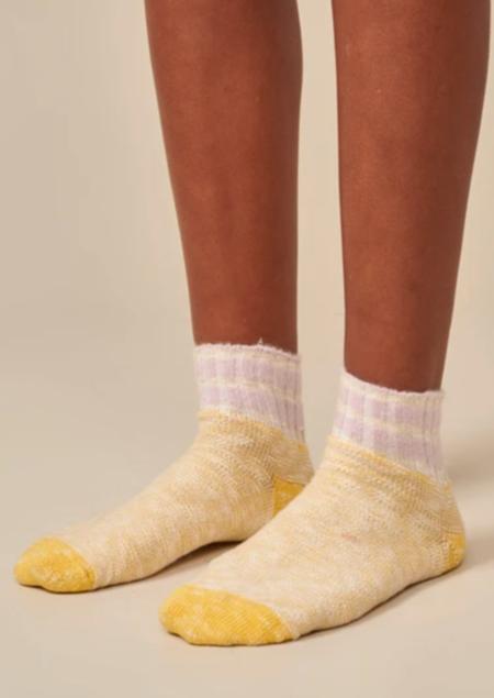 Bellerose Fast Socks - Ecru Lemon