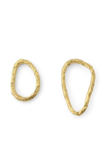 Forte Forte Asymmetrical Sculpture Earrings - Oro/brass