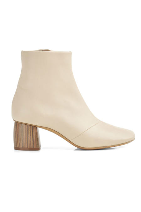 Forte Forte Nappa Chic Booties - Ivory