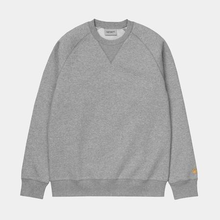 CARHARTT WIP Chase Crewneck Sweater - Dark Heather Grey