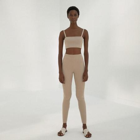 Mónica Cordera Ribbed Leggings - Maple