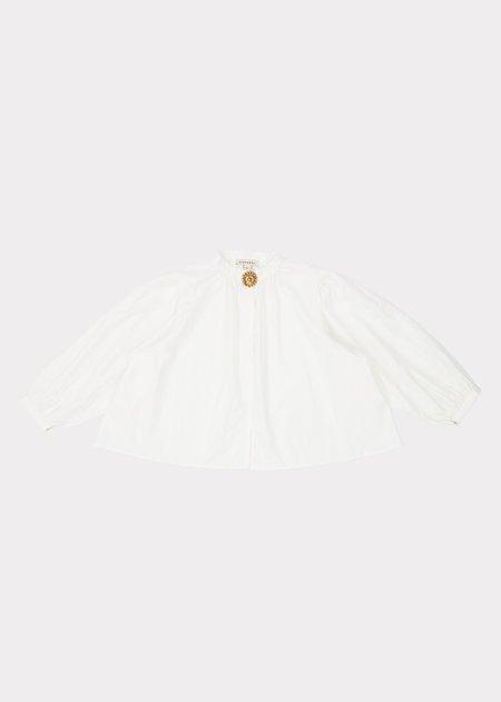 kids Caramel Plankton Blouse - White Cotton