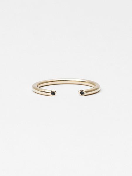 Still House Olva Ring Gold with Black Diamond