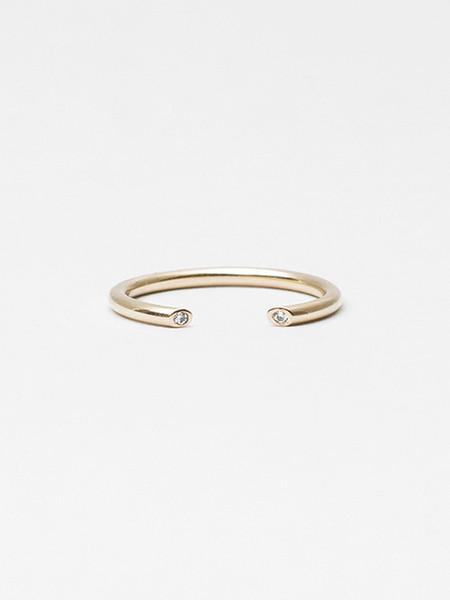 Still House Olva Ring Gold with White Diamond