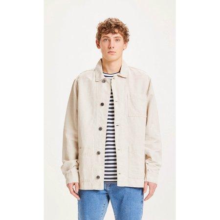 knowledge cotton apparel blackhorn light linen jacket - Natural