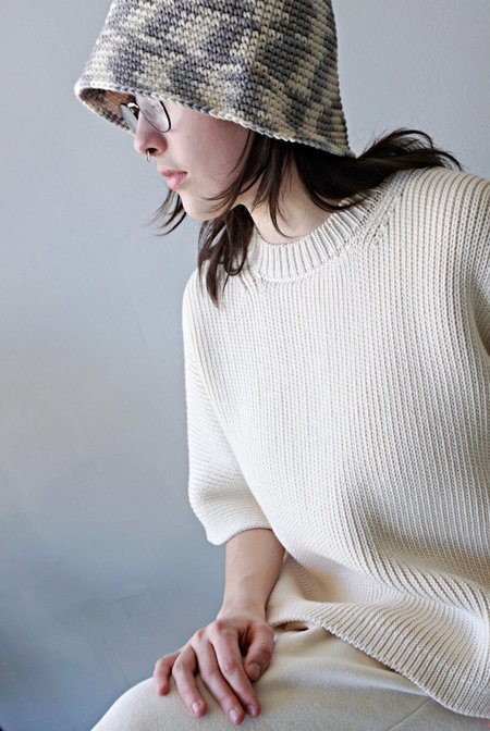 Lauren Manoogian Wide Pullover - Raw White