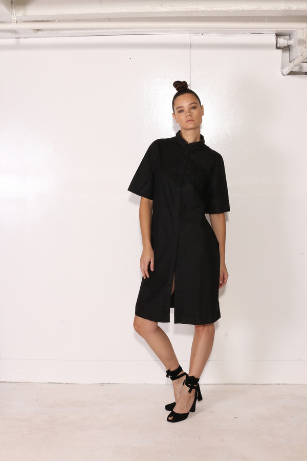 Intentionally Blank COLEUS DRESS Black