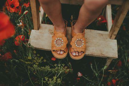 kids Donsje Iles Fields shoes - Sunflower