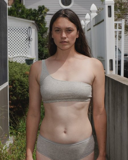 Baserange Una Bra - Grey Melange