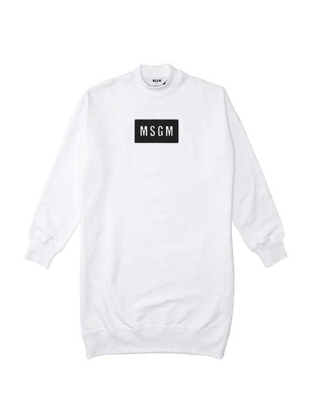 MSGM ABITO DRESS sweater - OPTICAL WHITE