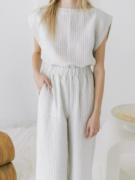 LAUDE the Label Everyday Crop top - Sailor Stripe