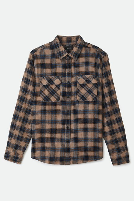 Bowery Lightweight Crossover Flannel top - Pine Bark