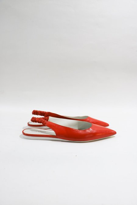 [Pre-loved] Bottega Veneta Leather Slingback Flats