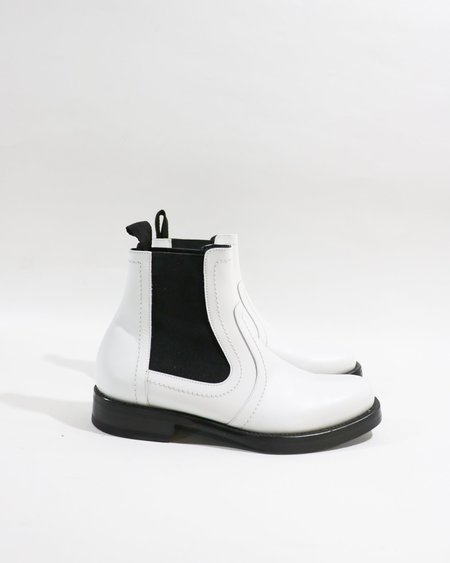 [Pre-loved] Pierre Hardy Stretch Panel Ankle Boots - Black/White