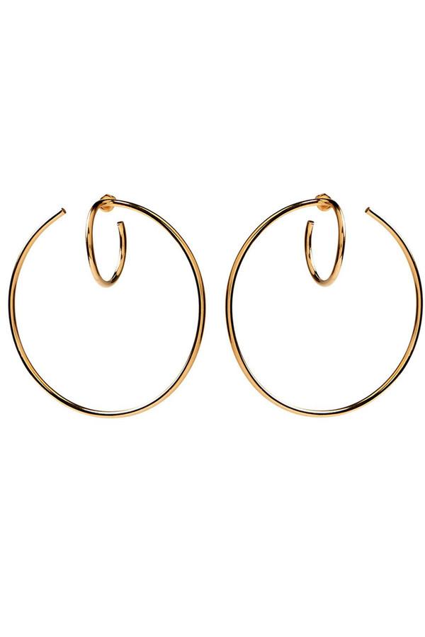 Lady Grey Torsion Hoop Earring (Gold)