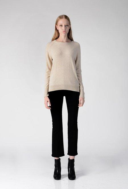 PURECASHMERE NYC Classic Crew Neck Sweater - Oatmeal