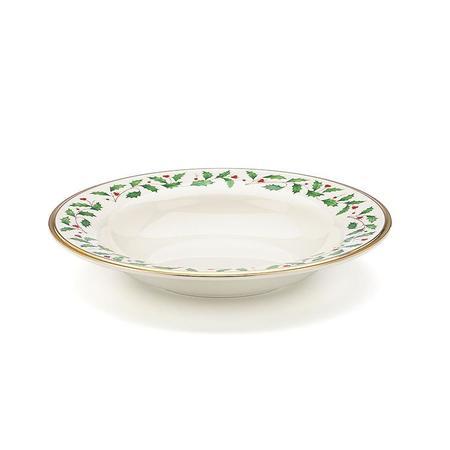 Lenox Holiday Rim Soup Bowl - white