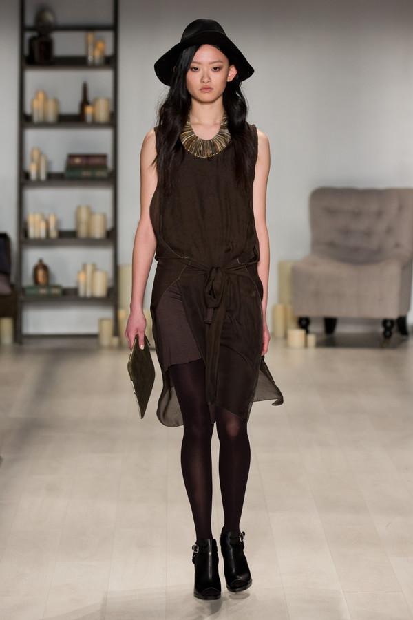 Laura Siegel Silk Sweatshirt Tye Dress