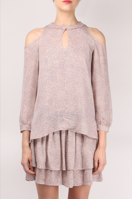 Derek Lam 10 Crosby L/S Cold Shoulder 2-in-1
