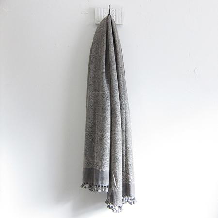 Matta Ajrak shawl - stone