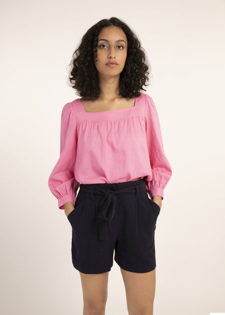 Mabel and Moss Colza Square Neck Top - Rose
