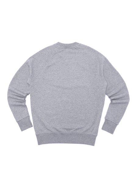 Maison Kitsuné Fox Head Patch Sweatshirt - Grey Melange