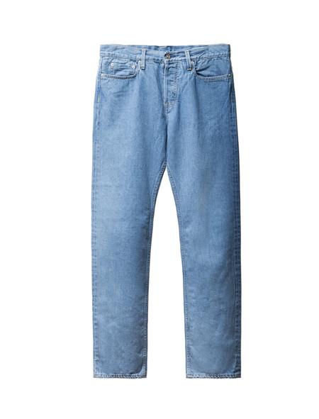 Niuhans 5 Pocket Jean Stone-Washed Indigo
