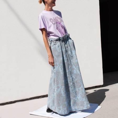 GANNI x Levi's Printed Strap Dress - Light Denim