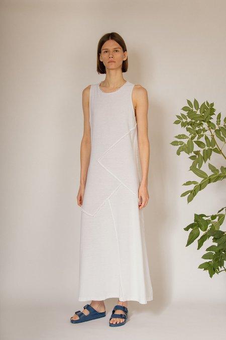 Oyuna Zinto Knitted Fringed Edge Maxi Dress - Swan