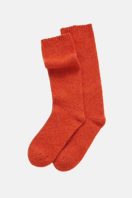 Oyuna Knitted Cashmere Socks - Pumpkin