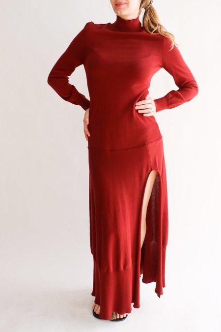 [Pre-loved] Jacquemus The Baya Cutout Maxi Dress - Rust