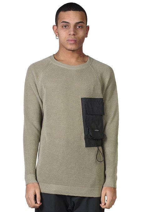 Tobias Birk Nielsen Rib Knit with Tech Pocket - Faded Green