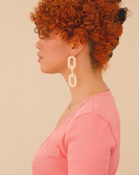 Eunice Iris Earrings - Ivory