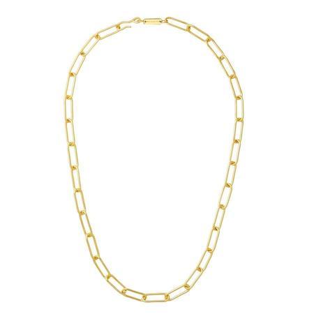 Machete Paperclip Chain Necklace - Gold