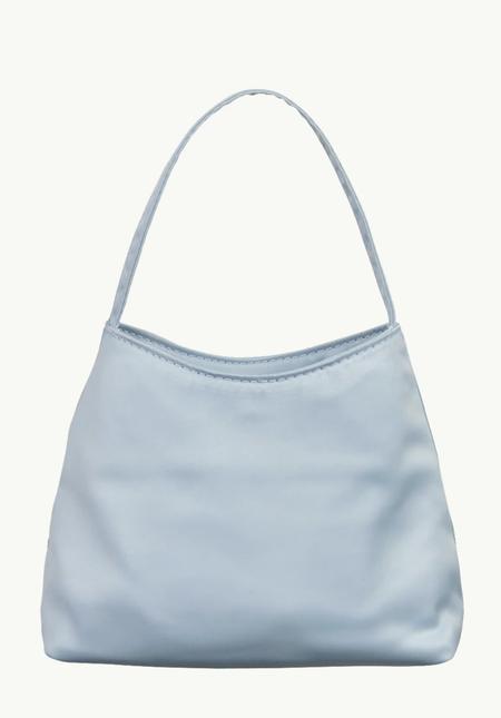 BRIE LEON The Mini Chloe satin bag - Powder Blue
