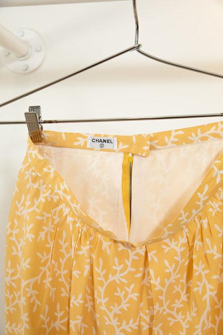 Vintage Chanel Silk Shorts - Yellow
