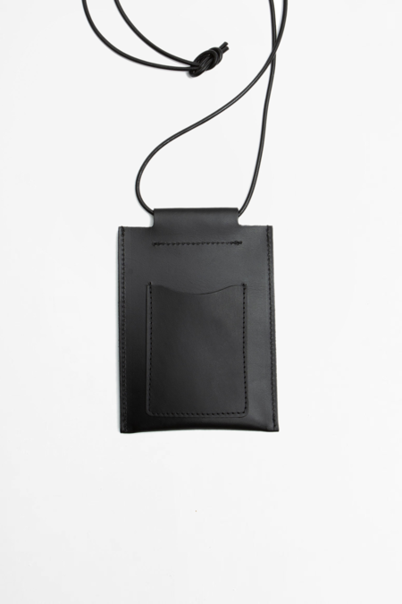 Still By Hand Leather square pouch - black