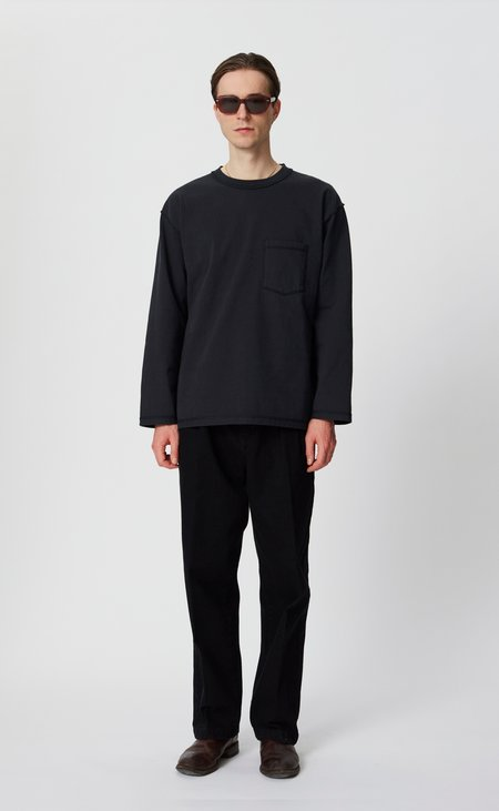 mfpen Long sleeve pocket tee - washed black