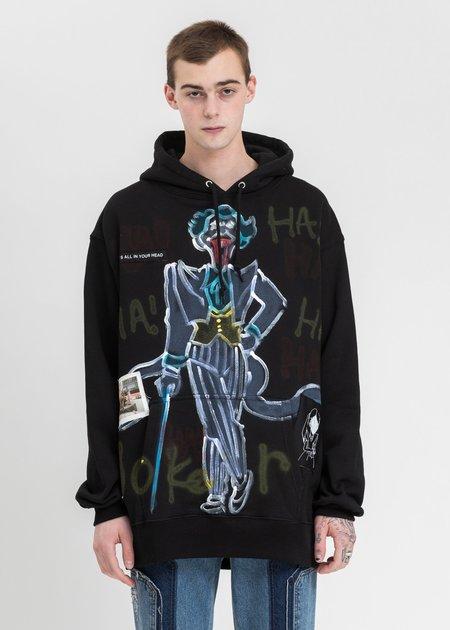 Guernika Paint joker Hoodie sweater - Black