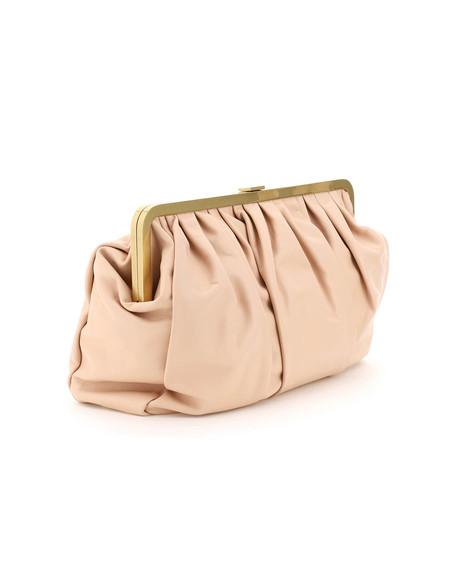 Mansur Gavriel Wave Frame Clutch Bag - pink