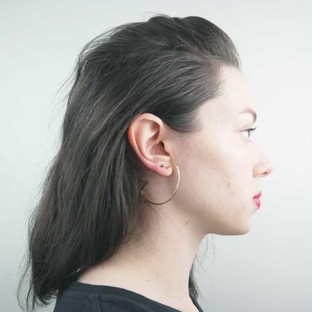 Knuckle Kiss Boat Hoop Earrings