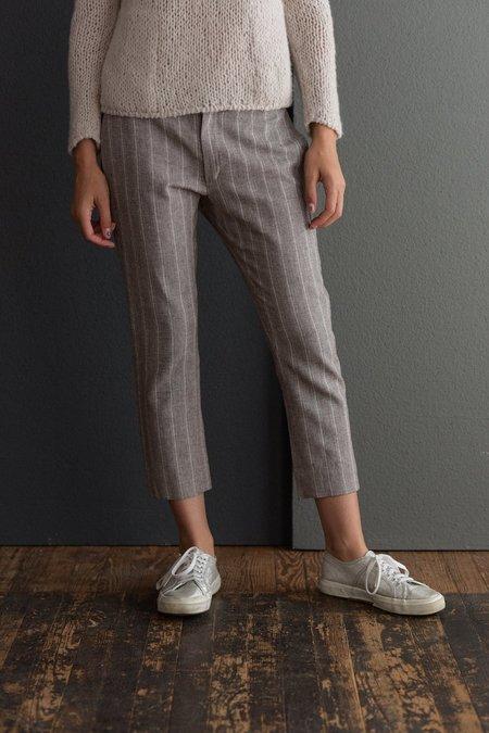 Hazel Brown Skinny Striped Pants - Brown