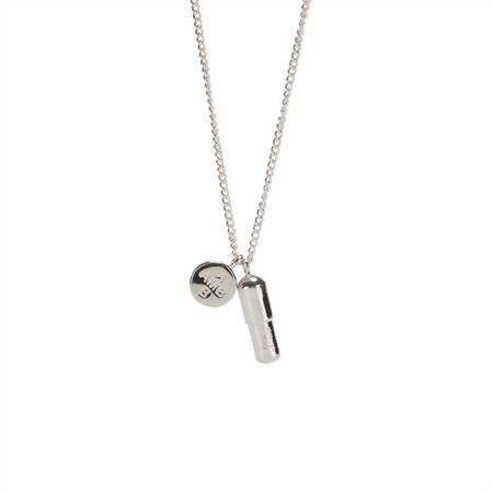 AMBUSH Pill charm necklace - silver