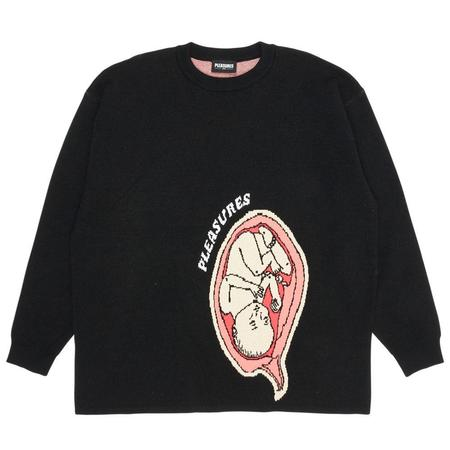 PLEASURESUtero Jaquard Sweater - Black