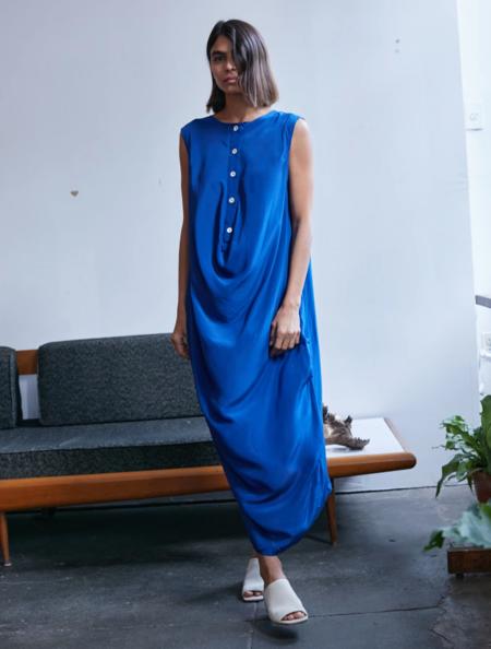 RUJUTA SHETH Sara Cowl Dress, Iris