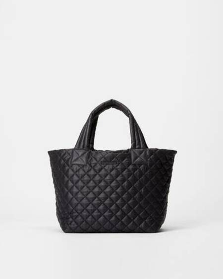 MZ Wallace Small Metro Deluxe Tote - Quilted Black