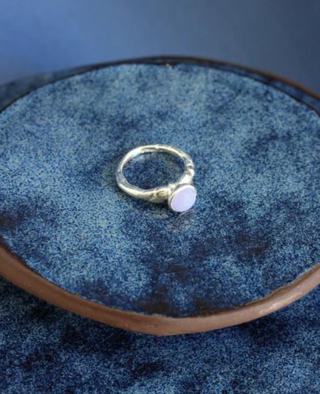 Ora-C estelle ring - Silver/Blue Lace Agate