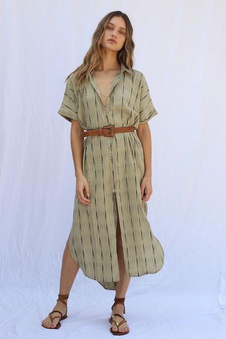 Jen's Pirate Booty Sunfair Dress - Ikat Yucca