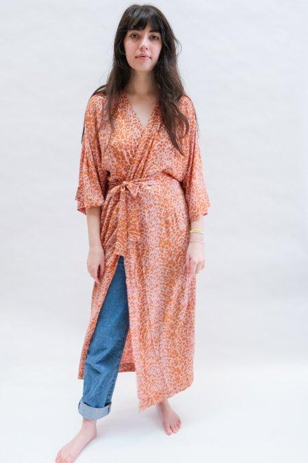 Natalie Martin Georgia Wrap dress - Blush Leopard